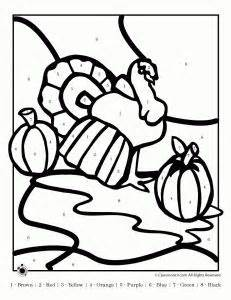 turkey coloring page by number 17 best images about color thanksgiving for children