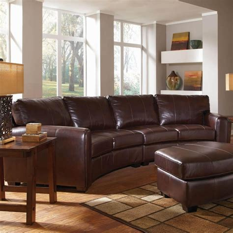Curved Sectional Couches by 2018 Leather Curved Sectional Sofa Ideas