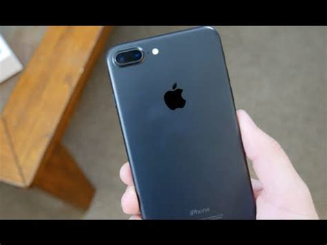 iphone 7 plus matte black unboxing setup and impressions