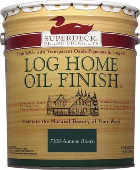 superdeck log home oil finish  gallon