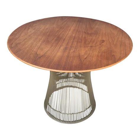 warren platner for knoll vintage side table in walnut at