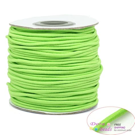 rubber elastic beading cord wire string thread light green