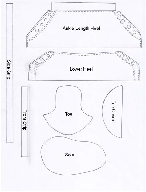 fondant shoe template cake cookie templates on cake decorating