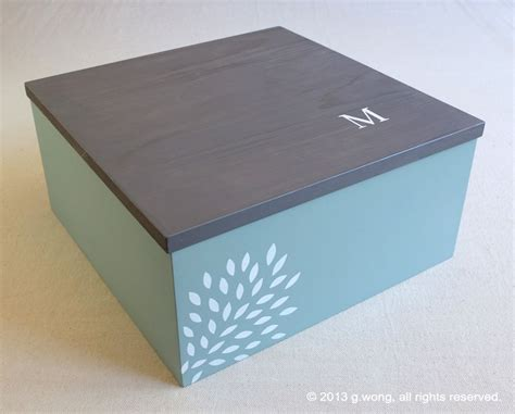 Handmade Wedding Keepsake Box - crafted custom wedding box personalized memory box
