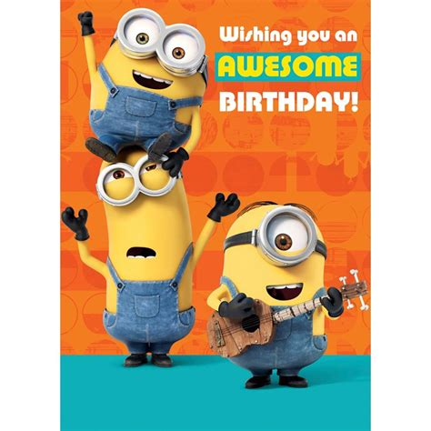 Minion Gift Card - birthday card populer minion birthday cards where to buy minion birthday greeting