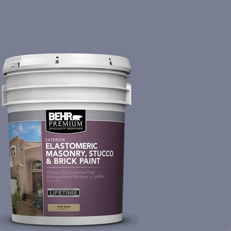 behr premium 5 gal ms 77 purple elastomeric masonry stucco and brick paint 06705 the