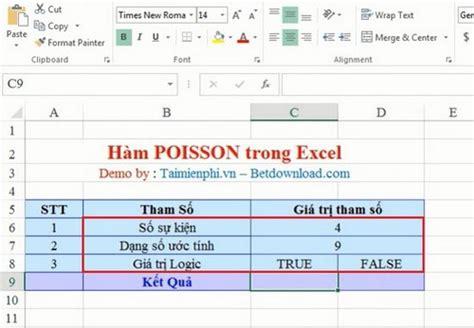 excel poisson function function returns the poisson