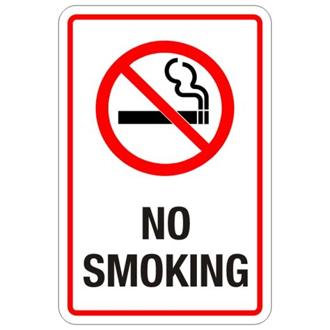 no smoking sign picture no smoking sign 12 x 18 bc site service