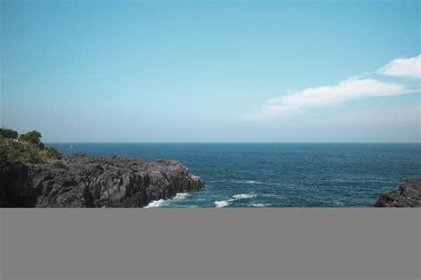 Jp Wallpaper Batu Berdaun gambar pantai hd wallpaper horison alam lautan