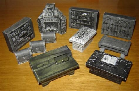 Furniture Papercraft - papermau quest furniture for dioramas rpg and