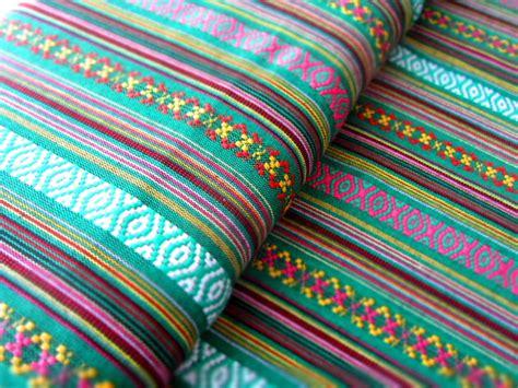 ikat muster leinen mexikanischer ethno stoff gr 252 n ikat muster