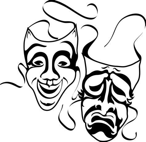 Black And White Drama | drama black and white clipart 38