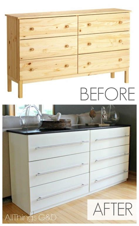 ikea tarva hack ikea tarva transformed into a kitchen sideboard all