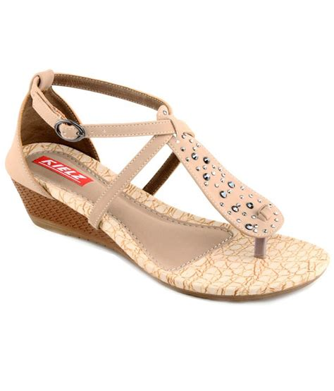 beige heeled sandals kielz comfortable beige heeled sandals price in india buy