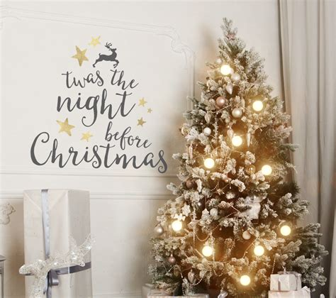 twas the night before christmas christmas wall decal and