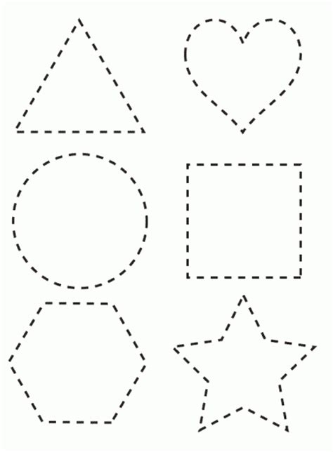 printable shapes cut and paste shapes to color coloring pages