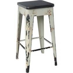 aurelle home distressed white wooden bar stool overstock