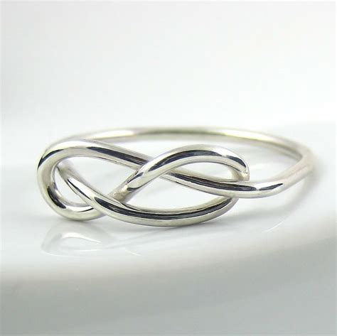 thick infinity knot ring sterling silver ring