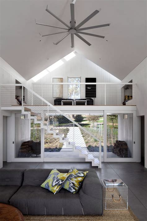 white barn  house  modern features digsdigs