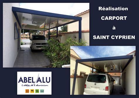 Car Port St by R 233 Alisation D Un Carport 224 St Cyprien Abel Alu