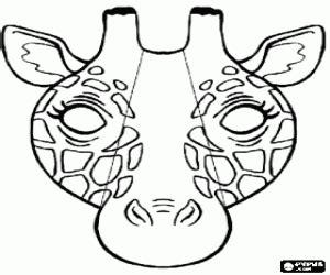 printable giraffe mask template animal masks coloring pages printable games 2