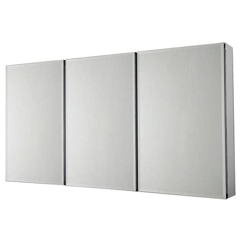 frameless mirrored medicine cabinet recessed pegasus 48 in w x 26 in h frameless recessed or surface
