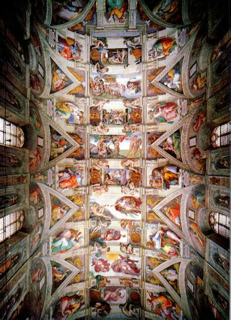 Sistine Chapel Ceiling Painting by Inspirations Just For You God Will See