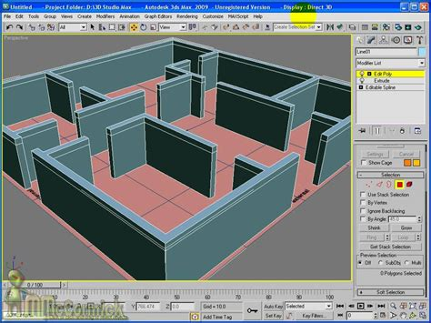 3d max home design tutorial 3ds max pt 2 extruding a floor plan youtube
