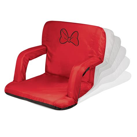 picnic time portable reclining c chair minnie mouse ventura portable reclining stadium seat