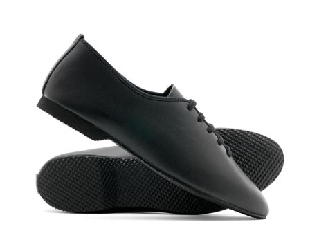 modern shoes for black leather rubber sole stage jazz modern