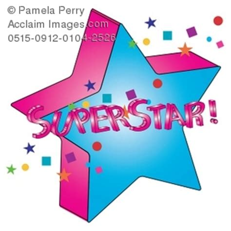 superstar clipart clip illustration of 3d with superstar text