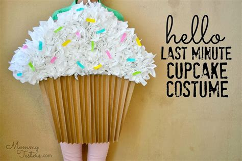 How To Make A Paper Costume - easy diy cupcake costume last minute costume