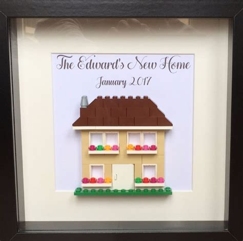 gift for new home lego personalised new home housewarming gift frame