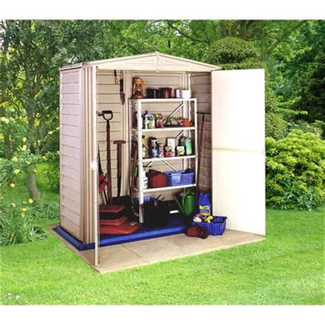 Pvc Shed 5 X 3 Deluxe Plastic Pvc Shed