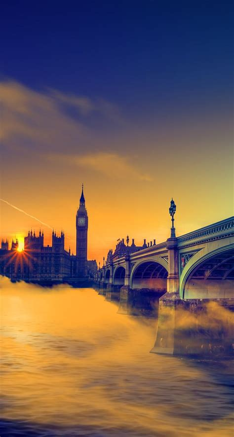 uk sunset big ben bridge iphone wallpapers atmobile