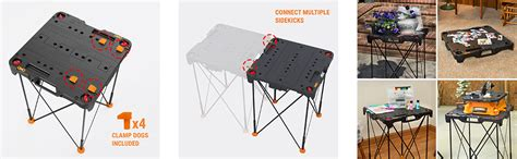 portable work table home depot worx wx066 sidekick portable work table wx066 the home depot