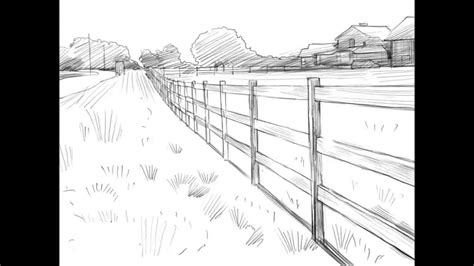 how to draw a fence
