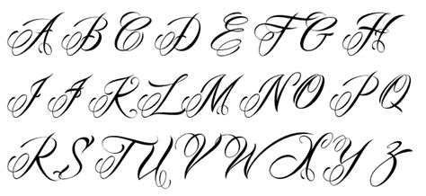 tattoo fonts unique pics for gt unique fonts alphabet