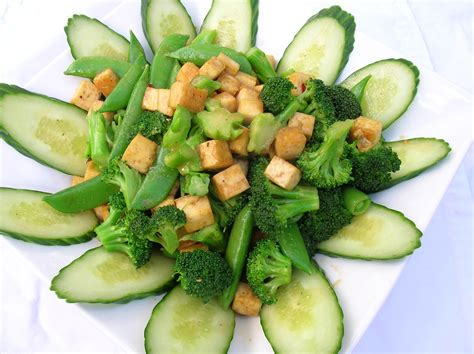 vegetables or salad tofu vegetable salad vegetarian perspective