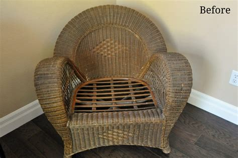 wicker chair makeover with krylon k bray designs