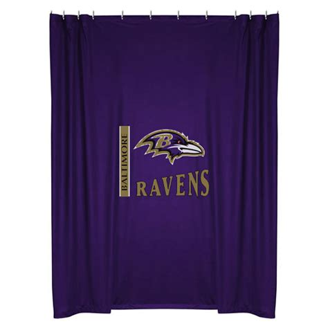 football curtain nfl baltimore ravens shower curtain football bathroom