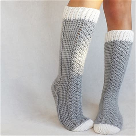 pattern cable socks ravelry parker cable socks pattern by lakeside loops