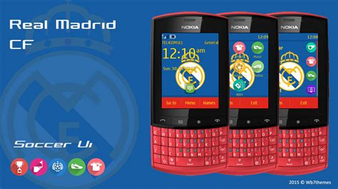 themes nokia c2 don real madrid theme asha 303 202 203 300 nokia x3 02 c3 01