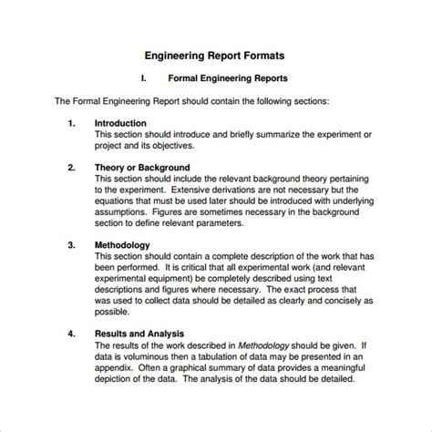 report layout template sle engineering report 14 documents in pdf