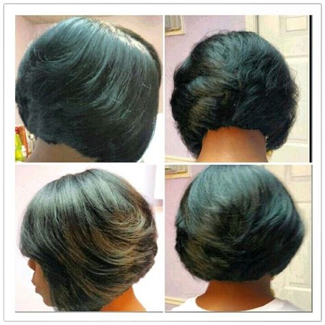 razor cut bob quick weave hairstyles pinterest