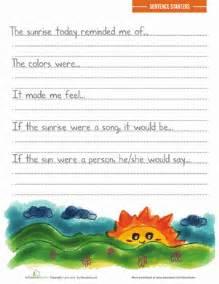 descriptive writing prompts worksheet education com