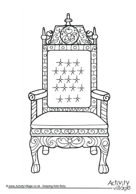 evil king on throne coloring book coloring pages