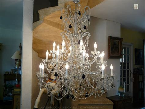 Grand Lustre by Lustres A Pilles De Cristal Antique Connection Fr