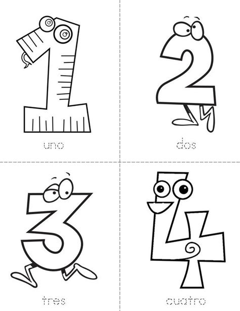 numbers 1 10 printable book numeros 1 10 book twisty noodle