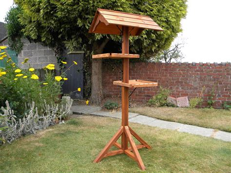Bird Table L Wooden Bird Table With Roof